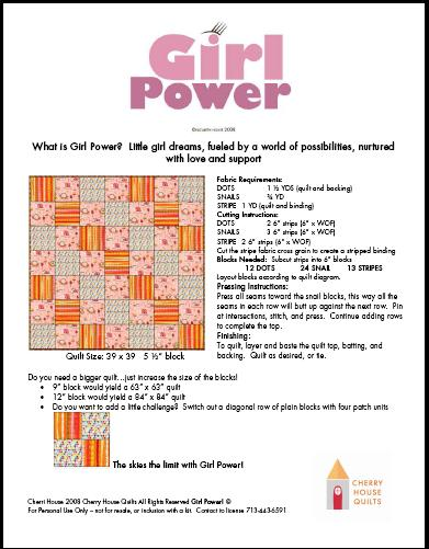 GIRL POWER QUILT PATTERN
