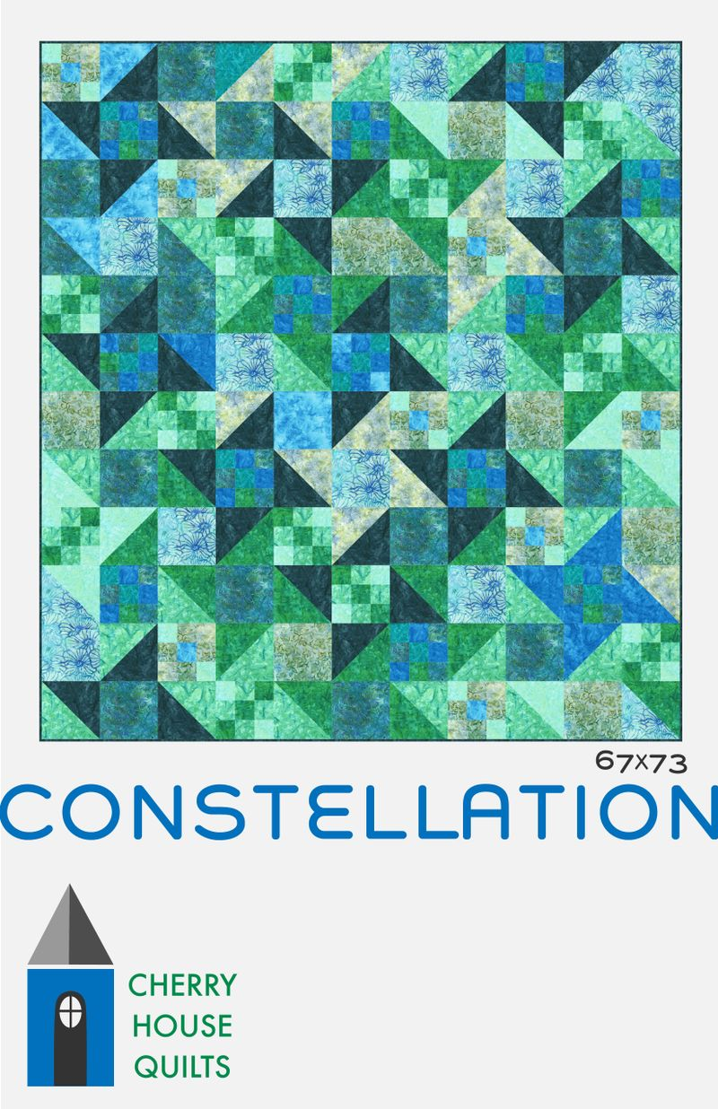 Blue constellation pattern cover