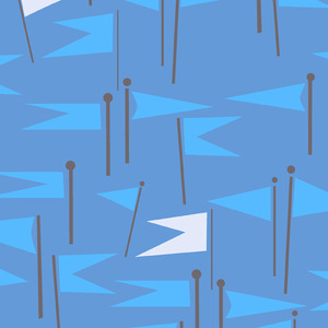 Lizzy_house_castle_peeps_castle_flags_in_royal_blue