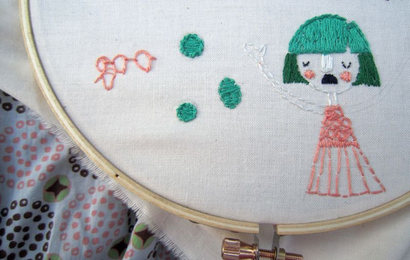 Embroidery beginning