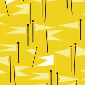 Lizzy_house_castle_peeps_castle_flags_in_yellow