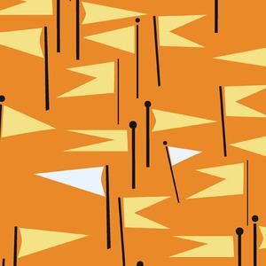 Lizzy_house_castle_peeps_castle_flags_in_orange