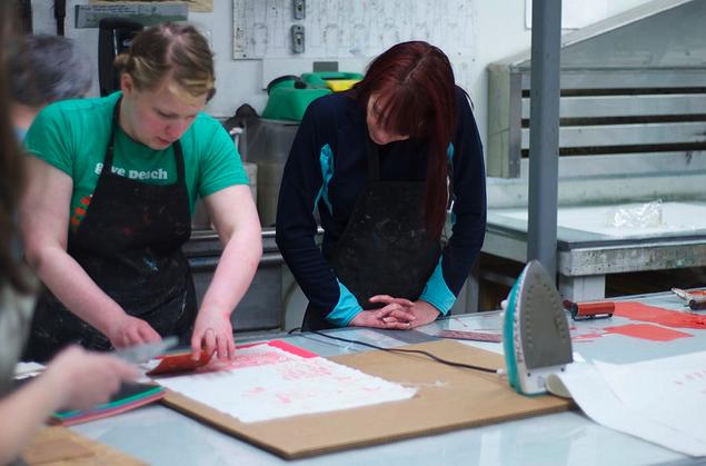 Printmaking arms