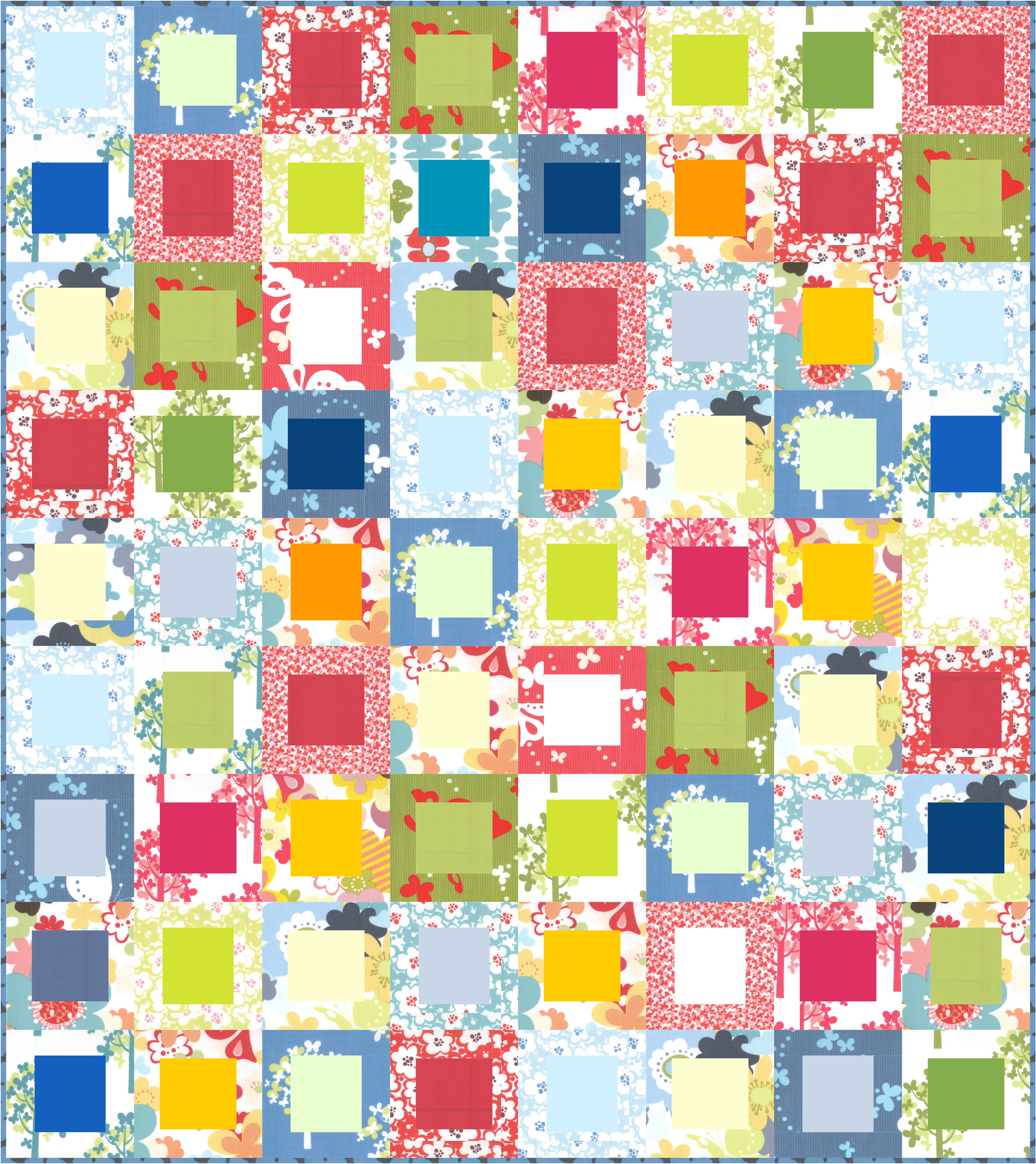 Cherry house quilts color by using a simple block such as the log cabin both the prints and the solids have a chance to shine the prints are busy but solids are calming the nvjuhfo Images